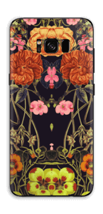 Orange flora Skin Galaxy S8 Plus