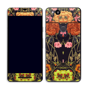 Orange flora Skin Pixel 2