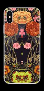 Orange blomster Skin IPhone XS