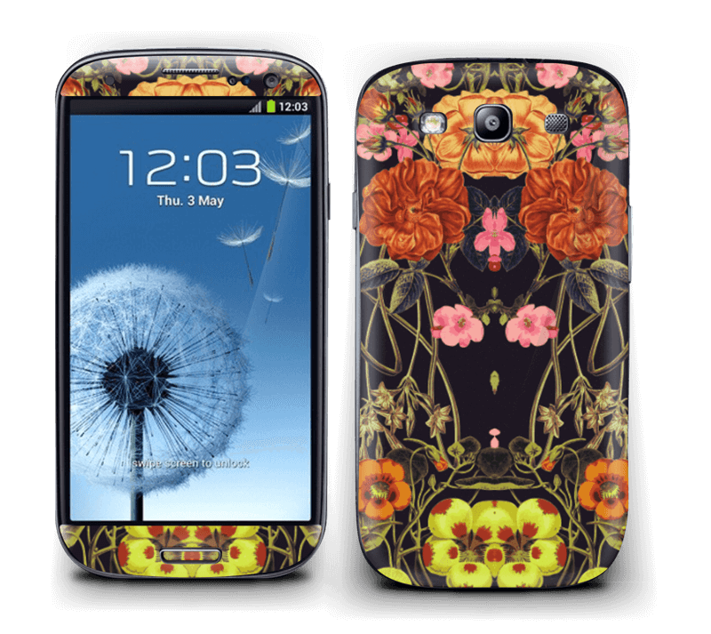 Orange blomster Skin Galaxy S3