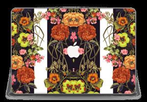 "Orange floral crossing Skin MacBook Pro Retina 15"" 2015"