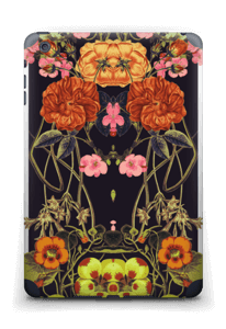 Orange flora Skin IPad mini 2 back