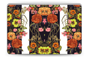 Orange floral crossing Skin Laptop 15.6