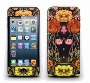 Orange flora Skin IPod Touch 5th Gen