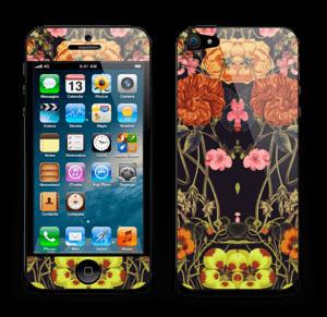 Oranje flora Skin IPhone 5
