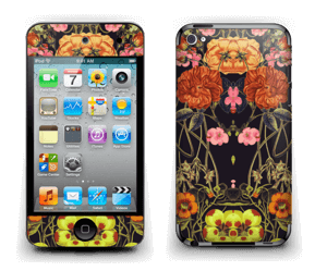 Orange flora Skin IPod Touch 4th Gen