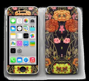 Orange flora Skin IPhone 5c
