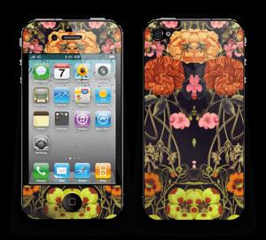 Orange flora Skin IPhone 4/4s