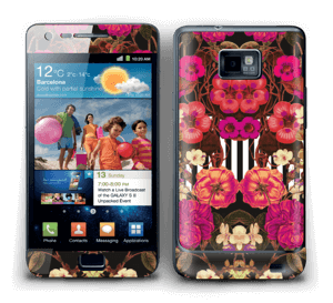 Rosa blomster Skin Galaxy S2
