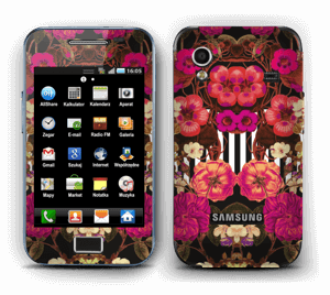 Floral crossing in pink Skin Galaxy Ace