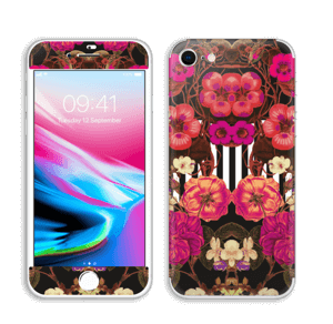 Rosa blomster Skin IPhone 8