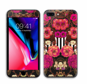 Rosa blomster Skin IPhone 8 Plus