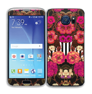 Rosa blomster Skin Galaxy S6