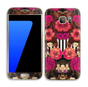 Rosa blomster Skin Galaxy S7