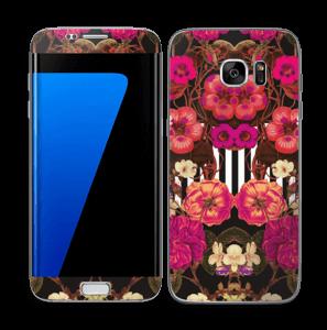 Roze bloemen Skin Galaxy S7 Edge