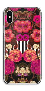 Floral crossing in pink Skin IPhone X