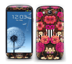 Floral crossing in pink Skin Galaxy S3