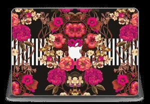 "Floral crossing in pink Skin MacBook Pro Retina 15"" 2015"