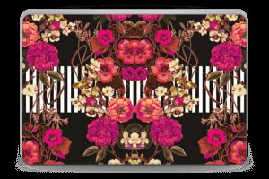 Floral crossing in pink Skin Laptop 15.6
