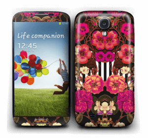 Floral crossing in pink Skin Galaxy S4