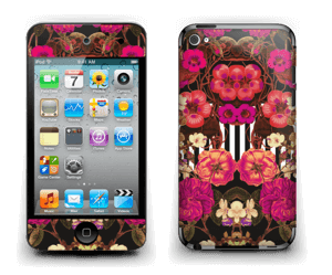 Rosa blomster Skin IPod Touch 4th Gen