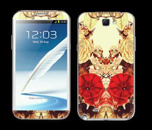 Fleurissement lumineux Skin Galaxy Note 2
