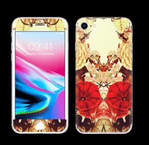 Symetriske blomster Skin IPhone 8