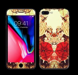 Symmetrische bloemen Skin IPhone 8 Plus