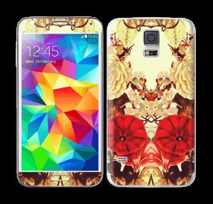 Symetriske blomster Skin Galaxy S5