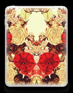Symetriske blomster Skin IPad 1