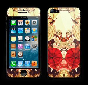 Symmetrische bloemen Skin IPhone 5