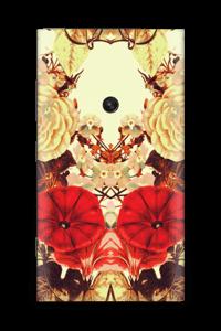 Symmetrische bloemen Skin Nokia Lumia 920
