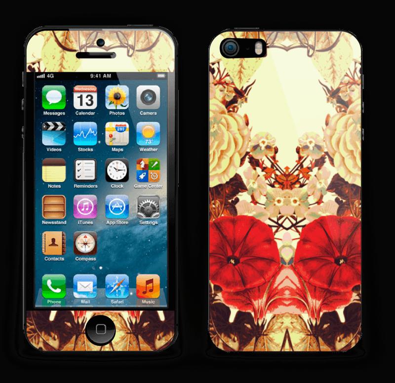 Symetriske blomster Skin IPhone 5s