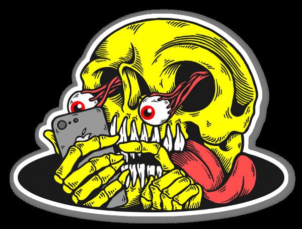 adiction  sticker