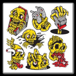 ramoneskull sticker