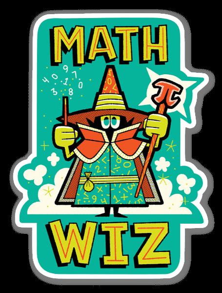 Math Wiz pegatina