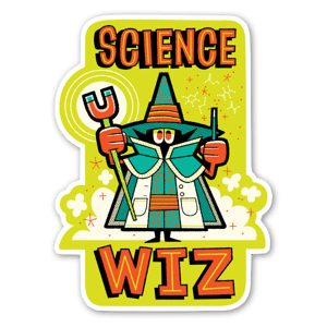 Science Wiz sticker