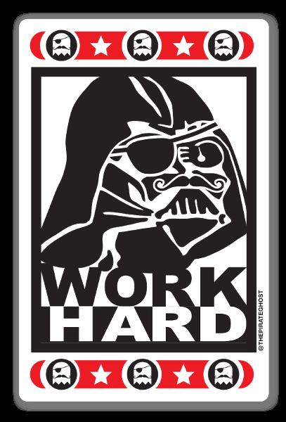 Work Hard pegatina
