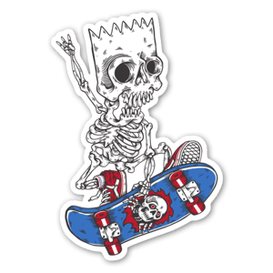 SKATE BART sticker
