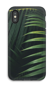 Palmblad hoesje IPhone X tough