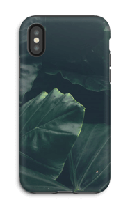 Jungle groen hoesje IPhone X tough