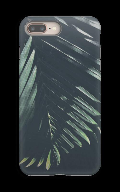 Aurinkoiset palmunlehdet kuoret IPhone 8 Plus tough