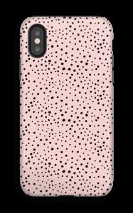 Stipjes op roze hoesje IPhone X tough