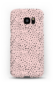 Stipjes op roze hoesje Galaxy S7 Edge