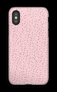 Stippen op roze hoesje IPhone X tough