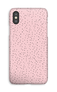 Dots on pink case IPhone XS