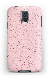 Dots on pink case Galaxy S5