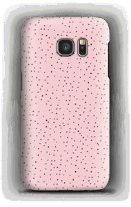 Kleine Punkte auf Rosa Handyhülle Galaxy S7