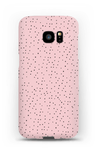 Dots on pink case Galaxy S7 Edge