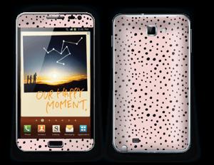Black dots on pink! Skin Galaxy Note